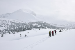 Workations Out of office - Active hiking snow